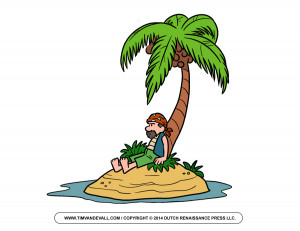 Pirate-on-Island-Clip-Art